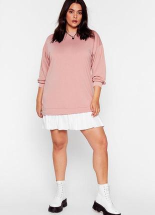 Nasty gal.товар куплен в англии.платье свитшот в стиле оверсайз.