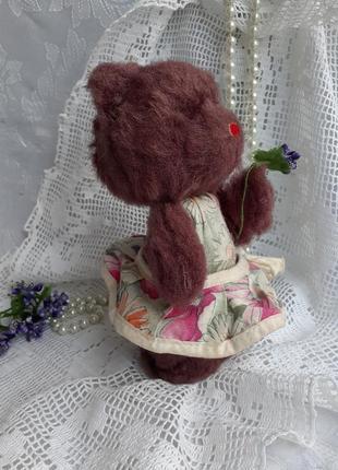 Медвежонок ссср каркасная мягкая игрушка прессопилки плюшевый мишка в сарафане советский