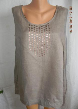 Блуза лен большого размера