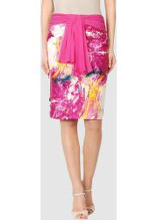 Шикарная шелковая юбка итальянского дизайнера renato nucci