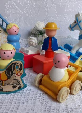Город пробок ссср игрушки фигурки константиновской фабрики винтаж советский игровой набор