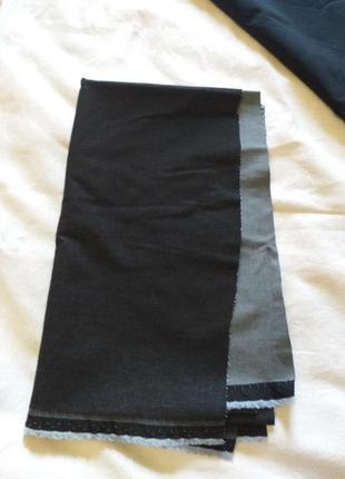 Джинсовая,  стрейчевая, ткань, отрез, лоскут на юбку.(3824)