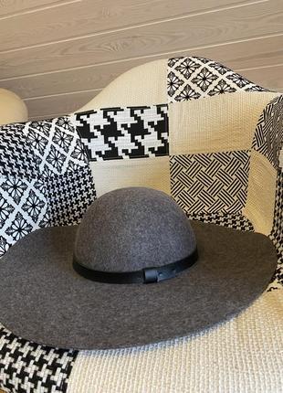 Тёплая шляпа с широкими полями 100% шерсть!