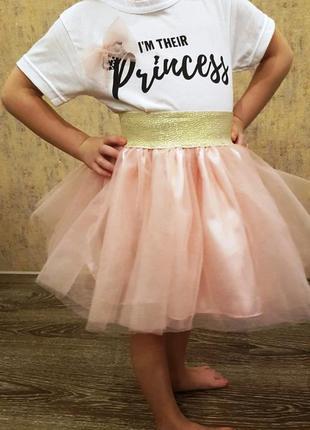 Юбка+футболка принцесса