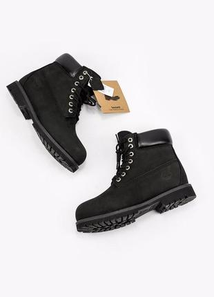 Ботинки timberland  «black» мех