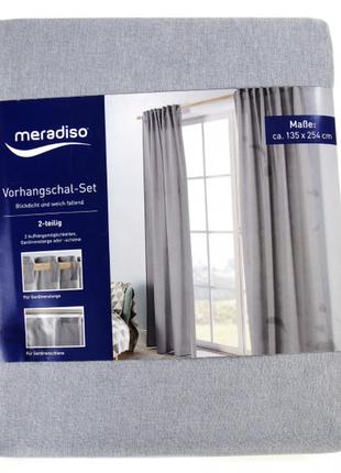 Красивенная штора ( два способа крепления)ткань шикарная текстура лен meradiso