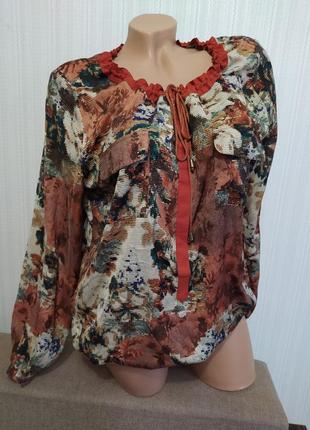 Красивая цветная блуза/кофточка/рубашка maddison