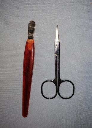 Набор маникюрные ножницы и лопатка
