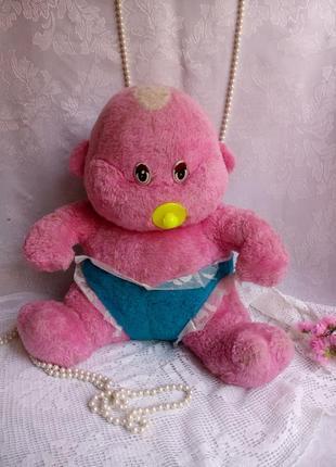 Карапуз малыш пупс мягкая игрушка большая кукла ребенок с соской