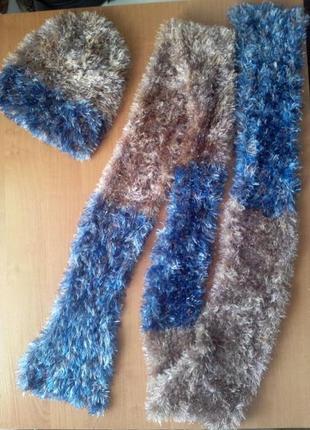 Роскошный комплект: шарф и шапочка