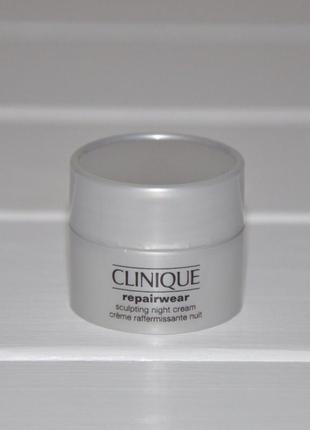 Ночной моделирующий крем гель для лица clinique repairwear uplifting 7мл