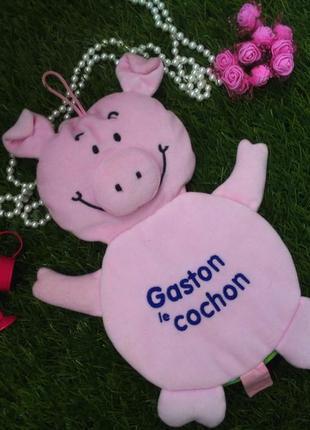 Поросенок гастон gaston le cochon мягкая книжка-игрушка французский хрюшка свин