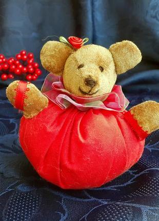 Мишка мягкая интерьерная игрушка ручная работа медвежонок мягконабивной