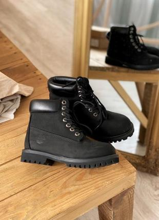 Timberland 6 inch premium black (без меха) ботинки тимберленды наложенный платёж купить