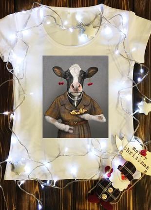 Женские футболки с принтом - год быка