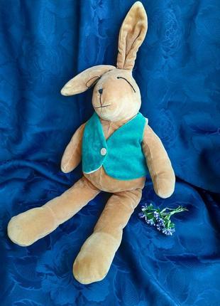 The manhattan toy кролик винтаж зайчик плюшевая мягкая игрушка в жилете