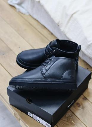 Ugg neumel black leather sd угги наложенный платёж