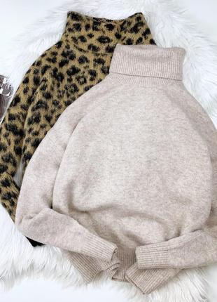 Шикарный бежевый шерстяной свитерок-гольф h&m❤️
