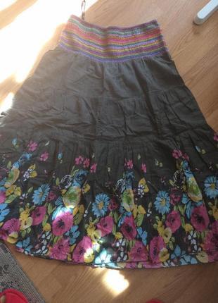 Хлопковая юбка papaya,размер 54