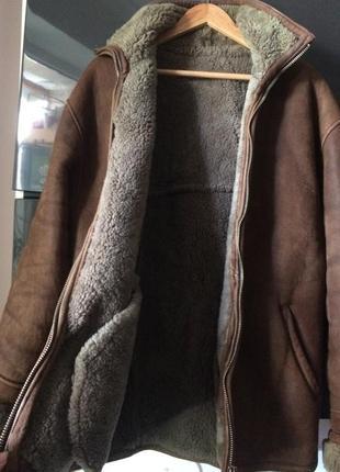 Мужская короткая натуральная дубленка на овчине genuine leather