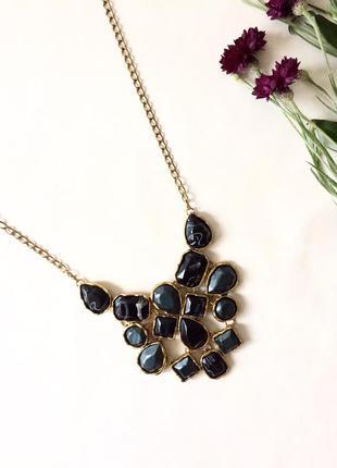 Массивное объёмное нарядное вечернее ожерелье украшение цепочка на шею бохо