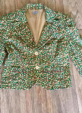 Яркий вельветовый пиджак naf-naf оиргинал