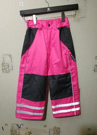 Зимние штаны комбинезон дания полукомбинезон лыжные теплые на девочку брюки детские