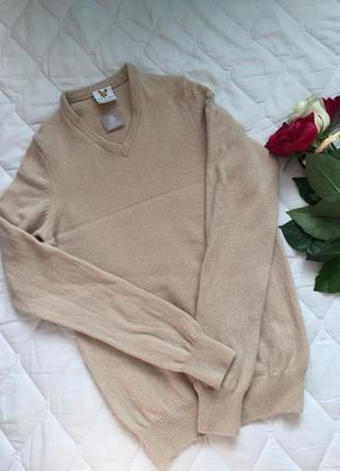 Бежевый свитер из 100% шерсти/lambswool р. s\xs от lyle & scott шотландия