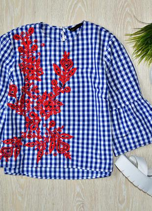 Блуза zara воланы