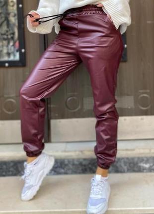 Кожаные штаны, джогеры