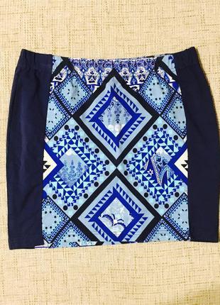 Шикарная летняя тонкая юбка в принт