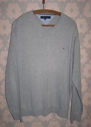 Мужской пуловер джемпер tommy hilfiger