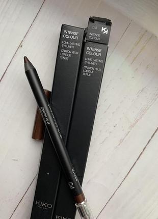Стойкий коричневый карандаш для глаз kiko milano