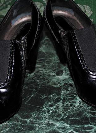 Туфли черные лаковые madiro