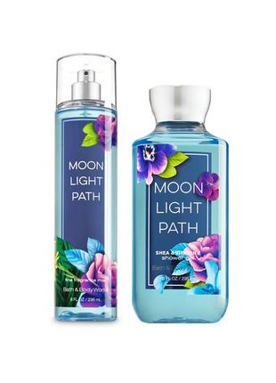 Парфюмированный гель для душа и спрей мист для тела moonlight path bath and body works