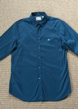Lacoste stretch рубашка slim fit оригинал (l-xl)