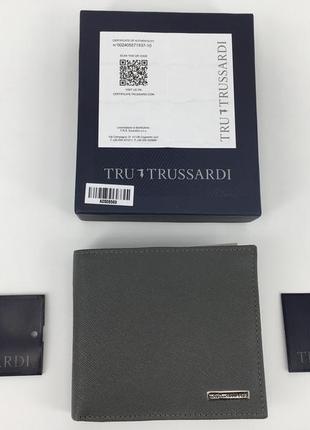 Мужской кожанный кошелек портмоне trussardi оригинал