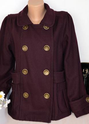 Брендовое демисезонное пальто с карманами atmosphere шерсть вискоза этикетка