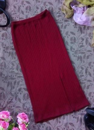 Трикотажная шерстяная юбка