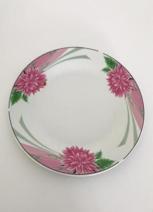 Тарелки, светлые тарелки, красивый новый набор тарелок.