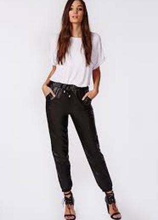 Джоггеры под кожу 42-44 s blue motion германия брюки штаны  кожаные джоггерс
