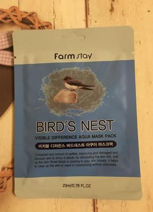 Тканевая маска farmstay с ласточкиным гнездом оригинал