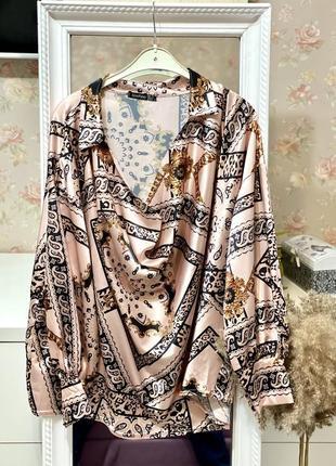 Сатиновая блуза большого размера boohoo
