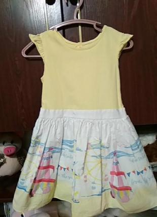 Платье на девочку 4-5 лет.