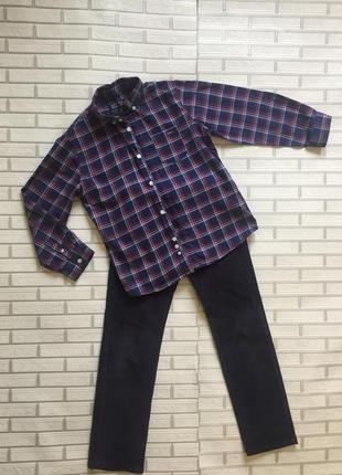 Джинсы и рубашка mayoral