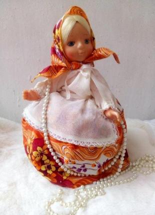 Аленка загорская фабрика кукла ссср советская баба на чайник куколка паричковая винтаж