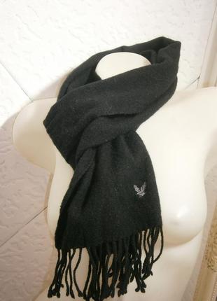 Длинный шарф шерсть с бахромой  орел