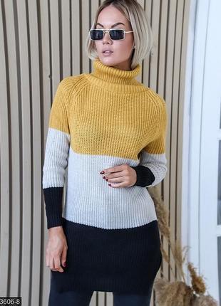 Теплый свитер вязка