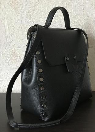 Сумка-рюкзак 29435-1 /италия/ натуральная кожа черный