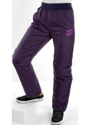 Зимние штаны (брюки) для девочки на синтепоне.
